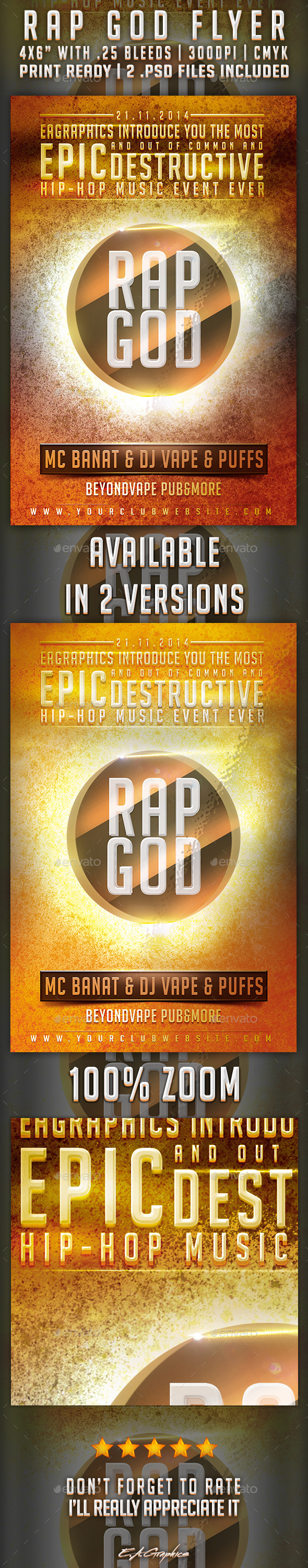 GraphicRiver Rap God Flyer 9342545