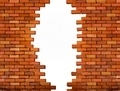 Vintage brick wall background with hole - PhotoDune Item for Sale