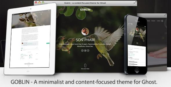 Goblin - Minimalist & Content-Focused Theme - Ghost Themes Blogging