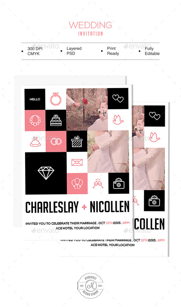 GraphicRiver Wedding Invitation 9342733