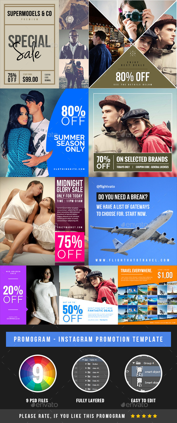 GraphicRiver Promogram Instagram Promotion Template 9314129