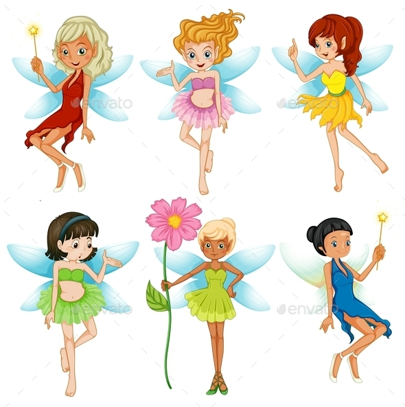 GraphicRiver Fairies Set 9342875
