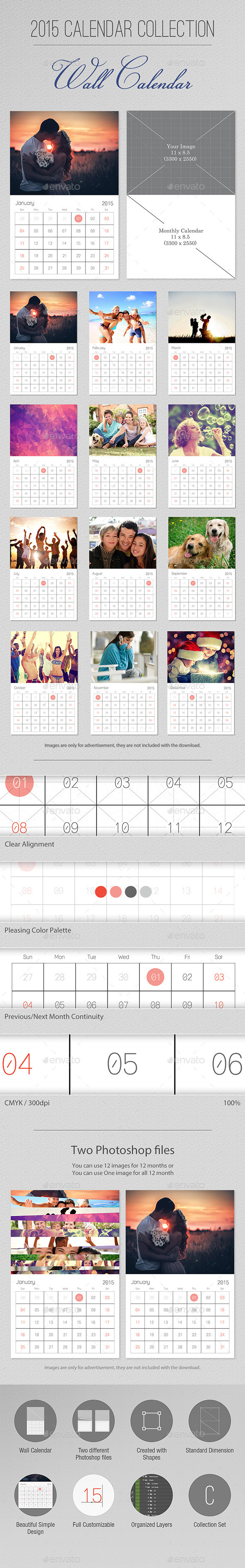 GraphicRiver 2015 Calendar Collection Wall Calendar 9301801