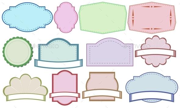 GraphicRiver Color Labels 9342901