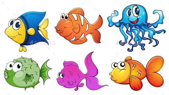 GraphicRiver Five Different Kinds of Sea Creatures 9342909