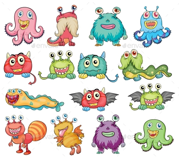 GraphicRiver Colorful Monsters 9342956