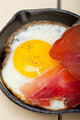 egg sunny side up with italian speck ham - PhotoDune Item for Sale