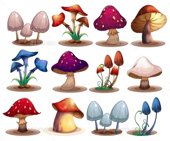 GraphicRiver Mushroom Set 9343107