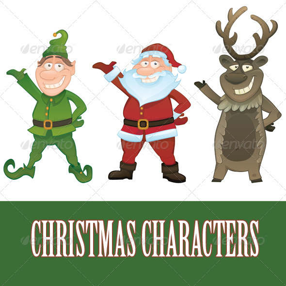 Vector Christmas characters - Characters Vectors