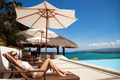 Young Beautiful Woman Sunbathing. Nice Sea View. - PhotoDune Item for Sale