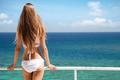 Young Woman Sunbathing. Nice Sea View. - PhotoDune Item for Sale
