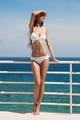 Young Beautiful Woman In Bikini. Nice Sea View. - PhotoDune Item for Sale