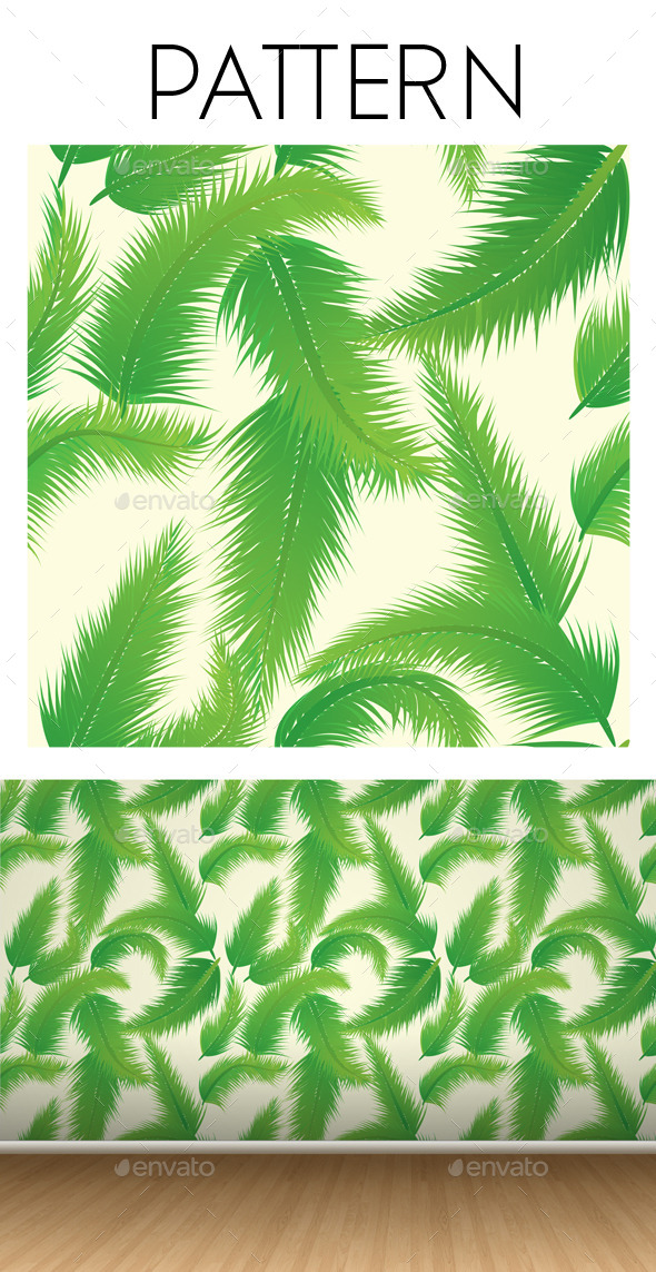 GraphicRiver Palm Leaf Pattern 9343435