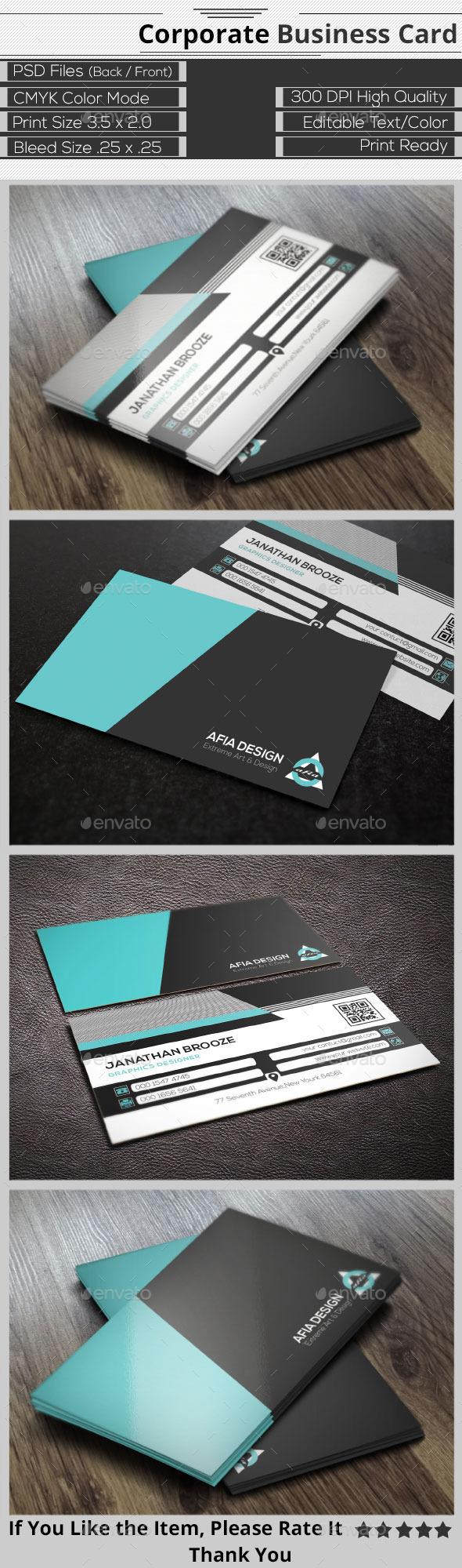 GraphicRiver Clean Corporate Business Card 9343521