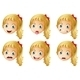 Girl Faces with Expressions - GraphicRiver Item for Sale