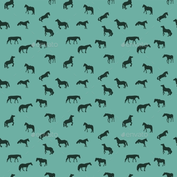 GraphicRiver Horse Pattern 9343640