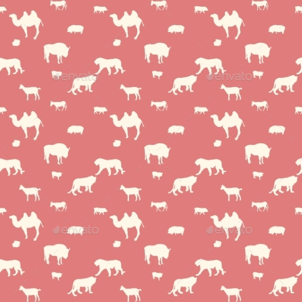 GraphicRiver Wild Animals Pattern 9343641