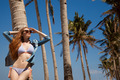 Beautiful Model Posing On Tropical Island. - PhotoDune Item for Sale