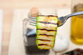 grilled zucchini courgette on a fork - PhotoDune Item for Sale
