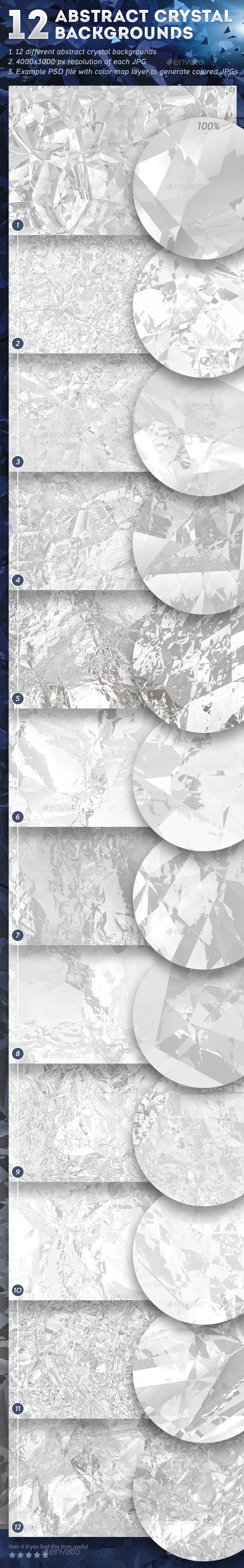 GraphicRiver 12 Abstract Crystal Backgrounds 9330709