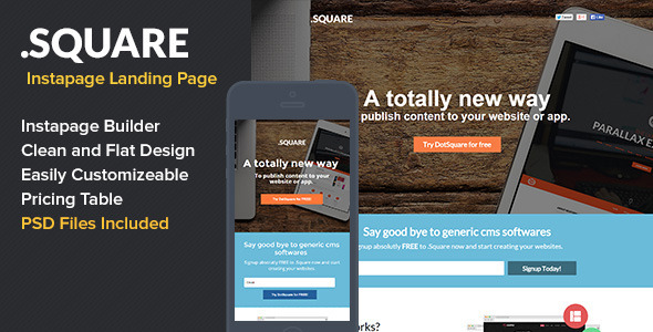 ThemeForest Dotsquare Instapage Landing Page 9343845