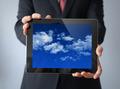 cloud tablet businessman - PhotoDune Item for Sale