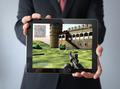businessman with videogame tablet tablet - PhotoDune Item for Sale