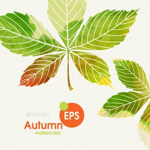 GraphicRiver Autumn Background With Leaves 9344660