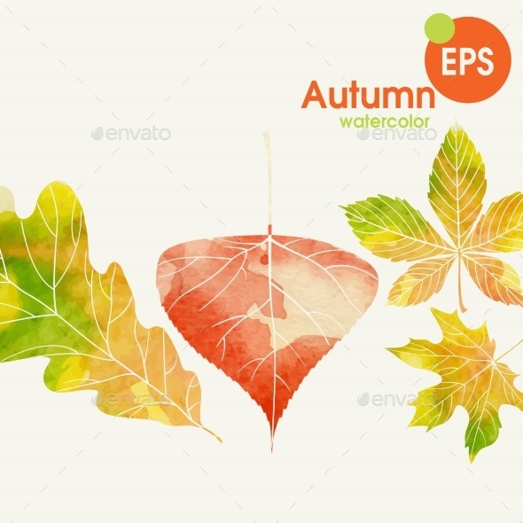GraphicRiver Autumn Background With Leaves 9344661