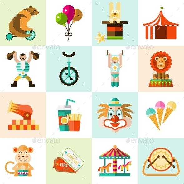 GraphicRiver Circus Icons Set 9344680