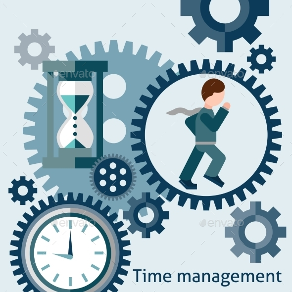 GraphicRiver Time Management Concept in Flat Style 9344681
