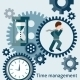 Time Management Concept in Flat Style - GraphicRiver Item for Sale