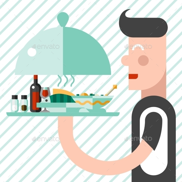 GraphicRiver Waiter with Tray 9344682