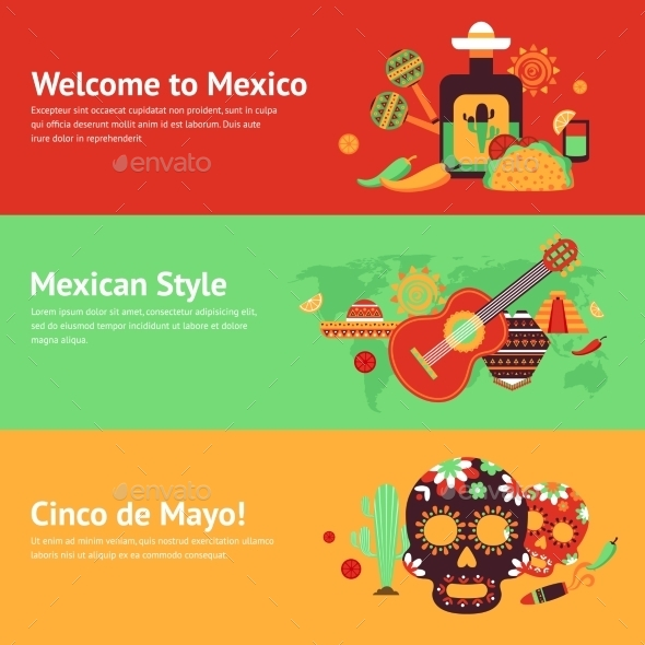 GraphicRiver Mexico Banner Set 9344893