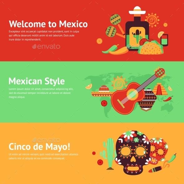 Mexico Banner Set