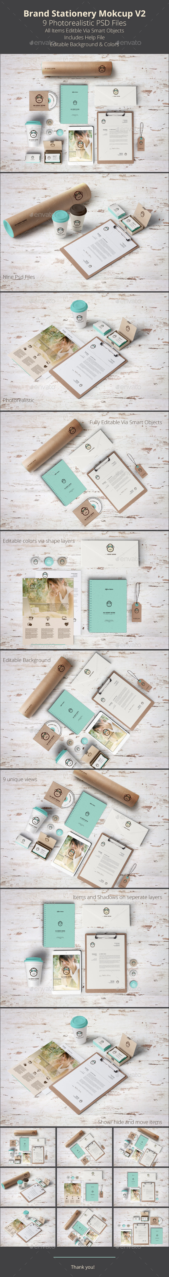 GraphicRiver Brand Stationery Mockup V2 9324818