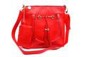 Red modern fashionable leather female bag. - PhotoDune Item for Sale