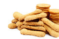Stack of cracker biscuits on a white background. - PhotoDune Item for Sale