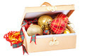 Christmas balls in box isolated on a white background. - PhotoDune Item for Sale