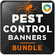 Pest Control Banner Bundle - 3 Sets - GraphicRiver Item for Sale