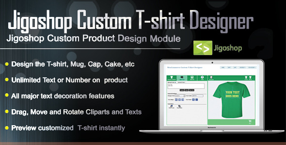CodeCanyon Jigoshop Custom T-Shirt and Product Designer 9345162