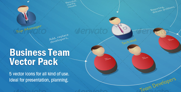 GraphicRiver Business Team Vector Pack 119975