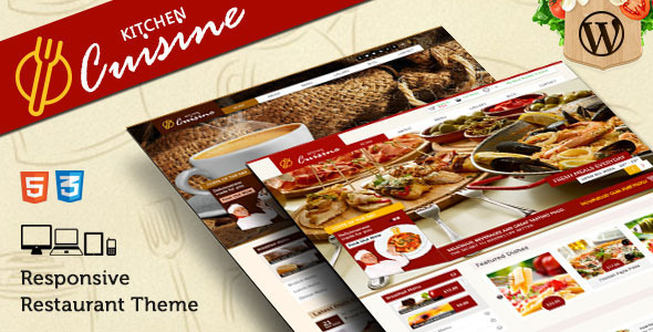Kitchen Cuisine Restaurants & Cafe WP Theme