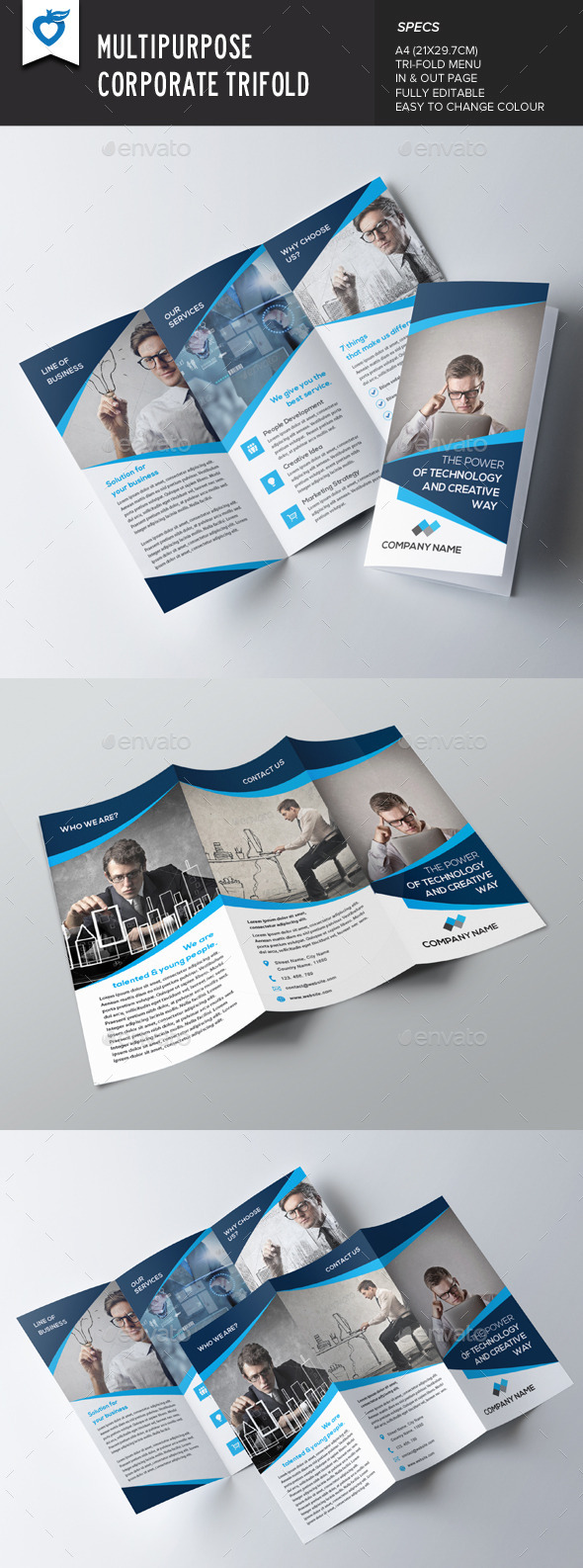 GraphicRiver Multipurpose Corporate Trifold 9345269