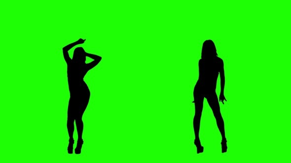 Bikini Dance on Green Screen