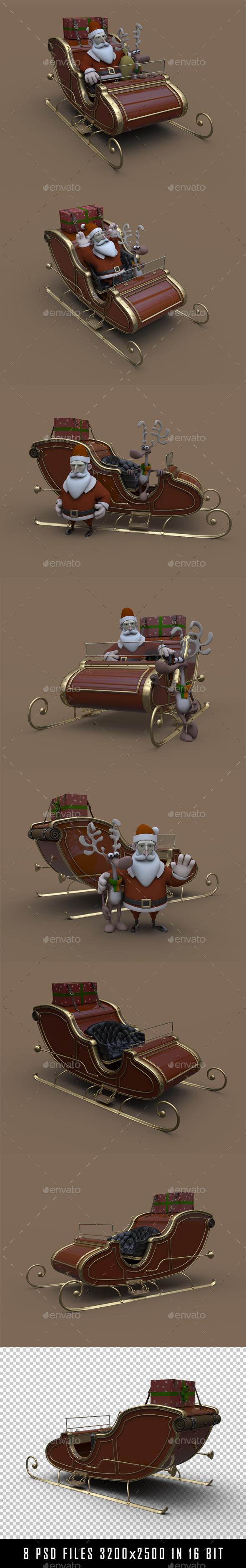 GraphicRiver Santa s Sled 9345303