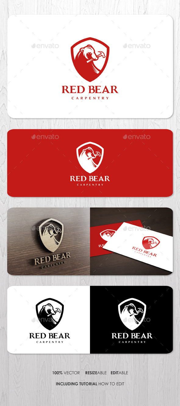 Red Bear Carpentry Logo