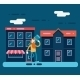 Cartoon Walking in the Street  - GraphicRiver Item for Sale