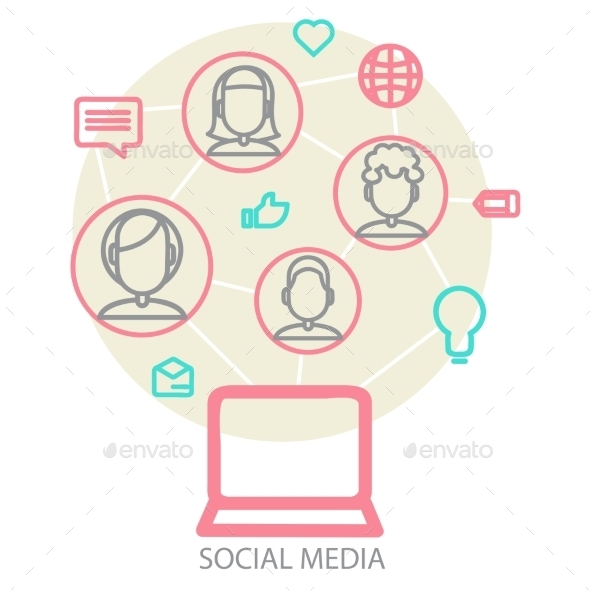 GraphicRiver Social Media Background 9345502