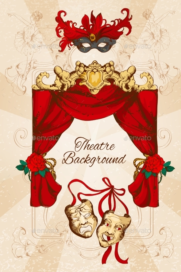 GraphicRiver Theatre Sketch Background 9345566